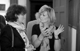Artist in Residence Dawn Harris (right)